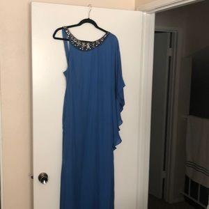 One shoulder BCBG evening gown
